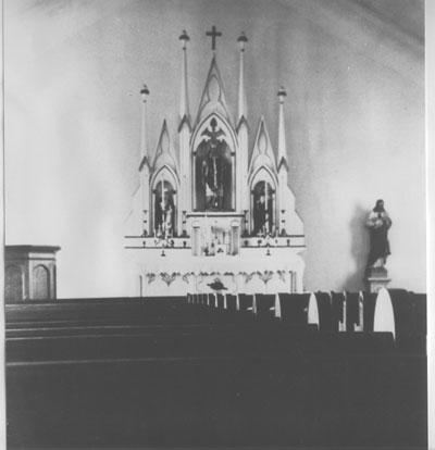Alter in Catholic Church, Thessalon, circa 1950