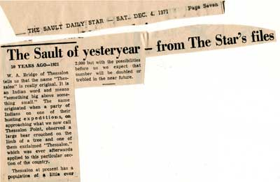 """""""The Sault of yesteryear--from the Star's files"""", Sault Star Clipping, 1971"""