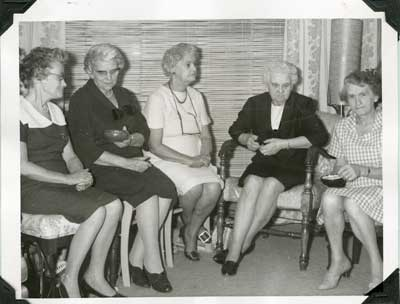 Group of Women at Grandma's Night, 1971