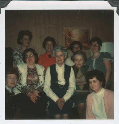 Womens Institute Meeting, Mrs. John MacLean's, 1974