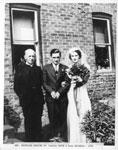 Wedding photo of Stanley Mavor and Ruth Chisholm, 1938