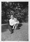 Vaughn Russ and Patsy Driver, Thessalon, 1945