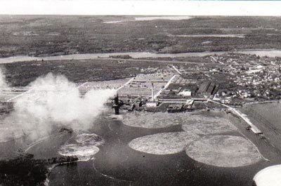 Blind River Mill, Aerial, Circa 1930