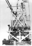 Jackfish Coal Docks, Rebuilding the Wooden Tower (March 1919)