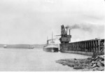 Jackfish Coal Dock - Coal Boat Unloading