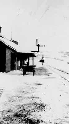 Coldwell Train Station in Winter (~1945)