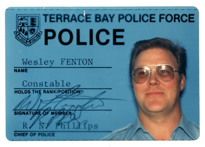 Constable Wesley Fenton, Terrace Bay Police