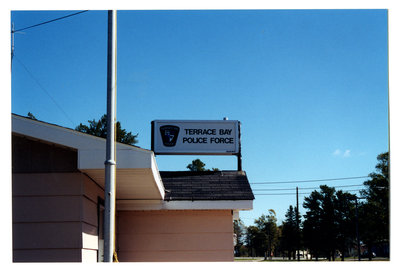 Terrace Bay Police Station Sign