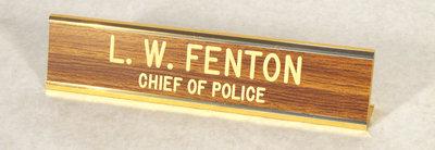 Police Name Plate, Terrace Bay Police