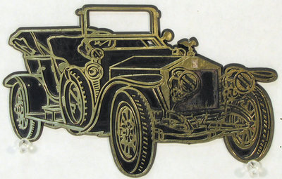 Vintage Car Self-Adhesive Plaque