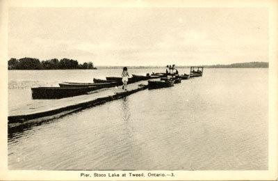 Pier, Stoco Lake at Tweed, Ontario. -3