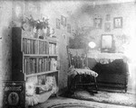 Lucy Maud Montgomery's old room.  2nd bookcase view, ca.1895.  Cavendish, P.E.I.