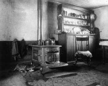 Old Cavendish kitchen, ca.1895.  Cavendish, P.E.I.