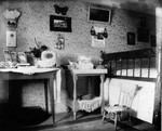 View of old room showing table, ca.1895.  Cavendish, P.E.I.