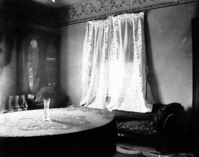 Bookcase view - sitting room, ca.1895.  Cavendish, P.E.I.