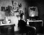 Stella Campbell in her room, ca.1890's.  Park Corner, P.E.I.