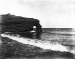 Breaking wave on Park Corner shore, ca.1890's.  Park Corner, P.E.I.