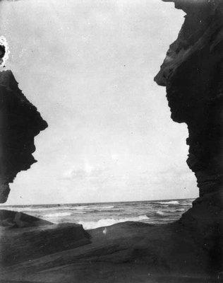 Gateway of the seas, Cliffs on Cavendish shore, ca.1890's.  Cavendish, P.E.I.
