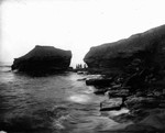 View of Cape Le Force with small figures, ca.1890's.  Cavendish, P.E.I.