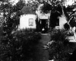 View of Alma MacNeill's home (her garden), ca.1897.  Cavendish, P.E.I.