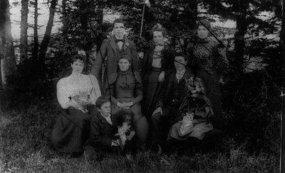 Family portrait of MacNeills, ca.1898, Cavendish, P.E.I.