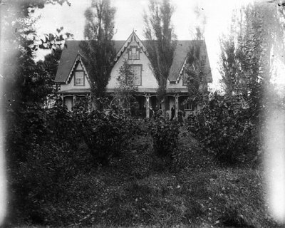 Melrose Cottage, home of Uncle Robert Sutherland, Sea View, P.E.I., ca.1896.