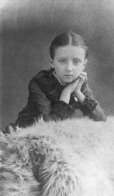 Lucy Maud Montgomery age 8, ca.1882.  Cavendish, P.E.I.