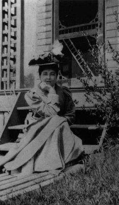 Lucy Maud Montgomery age 22, ca.1895.  Cavendish, P.E.I.