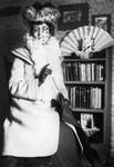 Lucy Maud Montgomery with fan, ca.1890's.  Cavendish, P.E.I.