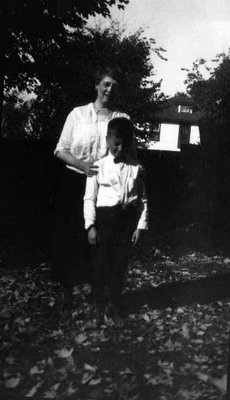 Lucy Maud Montgomery with Stuart, ca.1924.  Leaskdale, ON.