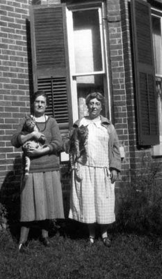 Lucy Maud Montgomery and Myrtle Webb portrait, Guelph, ON. 1926