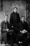 John Sutherland (in a group of 3 boys), ca.1890's.  Cavendish, P.E.I.