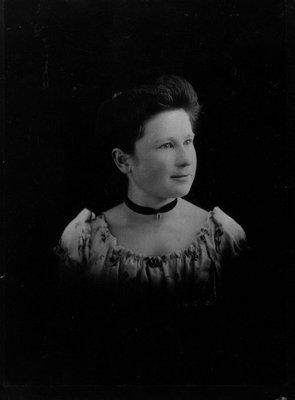 Laura Pritchard (Agnew), ca.1890.  Prince Albert, SK.