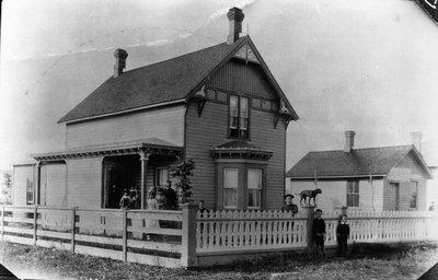 Lucy Maud Montgomery's home, ca.1890.  Prince Albert, SK.