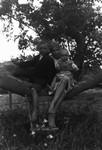 Marion, Keith, Pauline (baby) Webb, ca.1920's.  Cavendish, P.E.I.