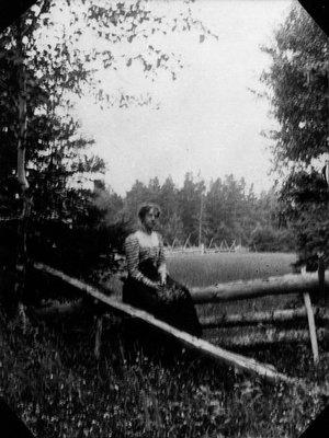 Bertie McIntyre, ca.1912.  Leaskdale, ON.