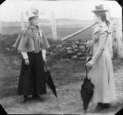 Kate & Myrtle MacNeill, ca.1900.  Cavendish, P.E.I.