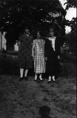 Unidentified woman, Mary, Ida.  (Prince of Wales College Reunion), ca.1929.  P.E.I.
