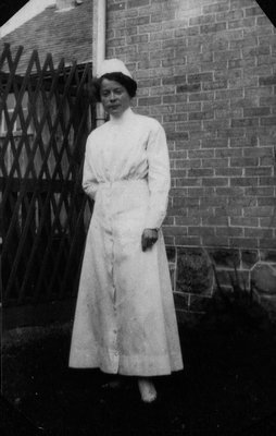 Miss Nichols - Nurse for Chester Macdonald, ca.1913.  Leaskdale, ON.