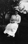 Miss Bernard, ca.1915.  Leaskdale, ON.