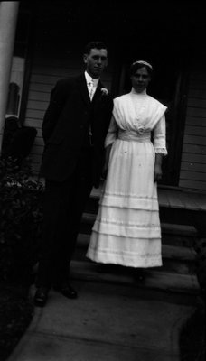 Bessie Cork & husband, ca.1915.  Leaskdale, ON.