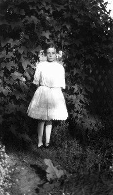 Edith Reid as young girl, ca.1915.  Leaskdale, ON.