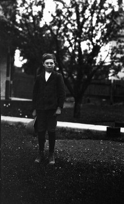 Archie Reid as young boy, ca.1915.  Leaskdale, ON.
