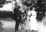 The Macdonald family with Bertie McIntyre, ca.1918.  Leaskdale, ON.