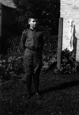 Chester age 12, ca.1924.  Leaskdale, ON.
