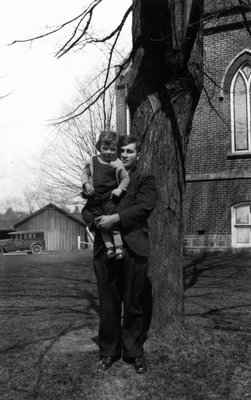 Chester & June (young girl), ca.1930.  Norval, ON.