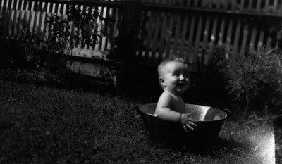 Stuart Macdonald age 10 months, ca.1916.  Leaskdale, ON.