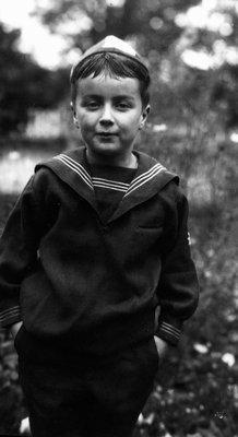 Stuart in sailor suit age 7, 1922.  Leaskdale, ON.