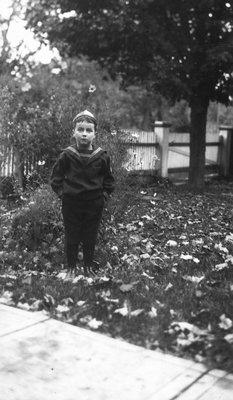 Stuart age 7, 1922.  Leaskdale, ON.