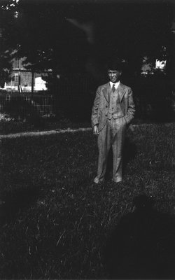 Stuart Macdonald age 13, ca.1928.  Norval, ON.
